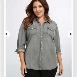 Grey Wash Denim Shirt